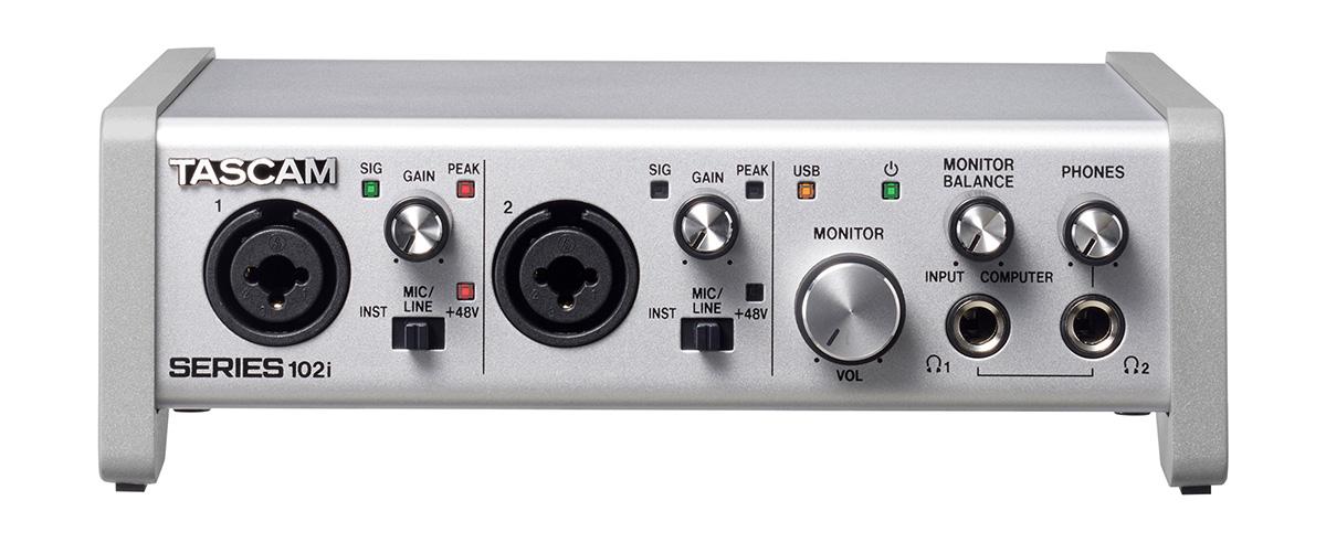 TASCAM SERIES 102i USB オーディオインターフェイス/ MIDIインターフェイス 【タスカム】【津田沼パルコ店】
