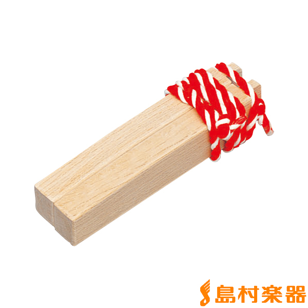 PlayWood HYO-35M 拍子木(紅白ひもつき) 【プレイウッド】