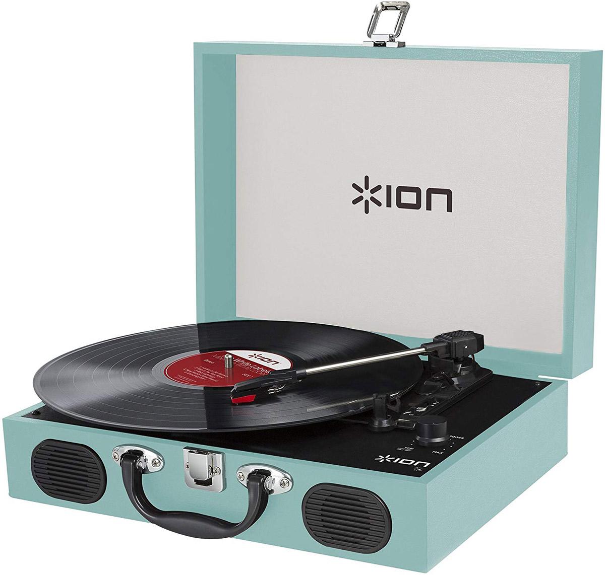 公式ストア ION AUDIO VINYL TRANSPORT レコードプレーヤー BLUE 入荷予定 水色 アイオンオーディオ