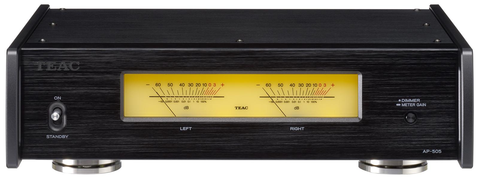 ステレオパワーアンプ 当店限定販売 TEAC AP-505 信用 B ブラック