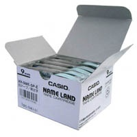 JANコード:4971850139584 カシオ計算機 ラベルテープ XR-9WE 白に黒文字 9mm 5個★お得な10個パック