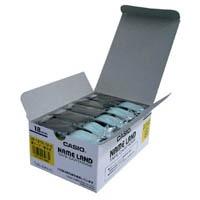 【カシオ計算機】 テープ XR-18YW-5P-E 黄に黒文字 18mm 20個★ポイント10倍★
