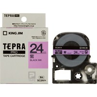 【キングジム】 テプラPROテープ SC24V 紫に黒文字 24mm★お得な10個パック