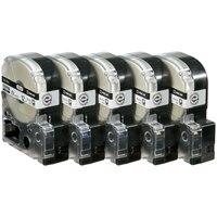 【キングジム】 PROテープロング SS12KL 白に黒 12mm 20個★お得な10個パック