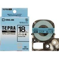【キングジム】 PROテープパール SMP18B 青に黒文字18mm★お得な10個パック