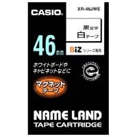 【カシオ計算機】 マグネットテープ XR-46JWE 白に黒文字46mm★お得な10個パック
