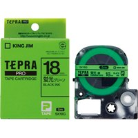 【キングジム】 テプラPROテープSK18G 蛍光緑に黒文字 18mm★お得な10個パック