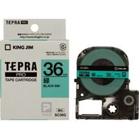 【キングジム】 テプラPROテープ SC36G 緑に黒文字 36mm★お得な10個パック