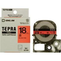 【キングジム】 テプラPROテープ SC18R 赤に黒文字 18mm★お得な10個パック