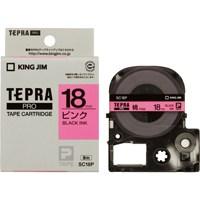 930d1078c070 【キングジム】 テプラPROテープ SC18P 桃に黒文字 18mm☆お得な10個パック あなたの最もよい選択である