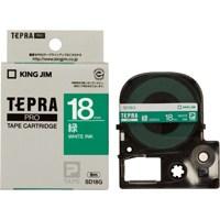 【キングジム】 テプラPROテープ SD18G 緑に白文字 18mm★お得な10個パック