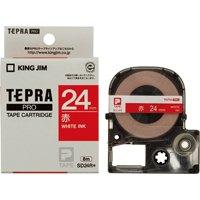 【キングジム】 テプラPROテープ SD24R 赤に白文字 24mm★お得な10個パック