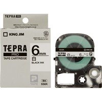 【キングジム】 テプラPROテープ SS6K 白に黒文字 6mm 5個★お得な10個パック