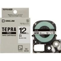 【キングジム】 テプラPROテープ SS12K 白に黒文字12mm 5個★お得な10個パック