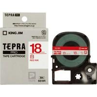 【キングジム】 テプラPROテープ SS18R 白に赤文字 18mm★お得な10個パック