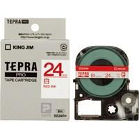 【キングジム】 テプラPROテープ SS24R 白に赤文字 24mm★お得な10個パック