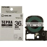 【キングジム】 テプラPROテープ ST36K 透明に黒文字 36mm★お得な10個パック