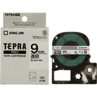 【キングジム】 PROテープ ST9K-20 透明に黒文字 9mm 20個★お得な10個パック
