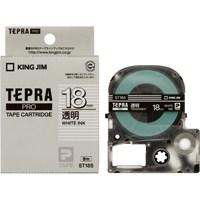 【キングジム】 テプラPROテープ ST18S 透明に白文字 18mm★お得な10個パック