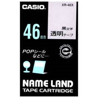 【カシオ計算機】 透明テープ XR-46X 透明に黒文字 46mm★お得な10個パック