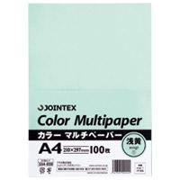 【ジョインテックス】 カラーマルチペーパーA4 100*24浅黄A181J-1★お得な10個パック