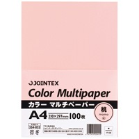 【ジョインテックス】 カラーマルチペーパーA4 100*24桃A181J-4★お得な10個パック