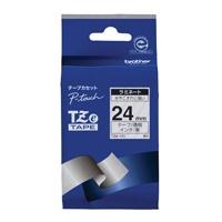 【ブラザー】 文字テープ TZe-151透明に黒文字 24mm★お得な10個パック