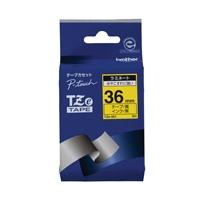 【ブラザー】 文字テープ TZe-661黄に黒文字 36mm★お得な10個パック