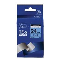 【ブラザー】 文字テープ TZe-551青に黒文字 24mm★お得な10個パック