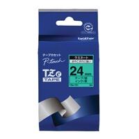 【ブラザー】 文字テープ TZe-751緑に黒文字 24mm★お得な10個パック