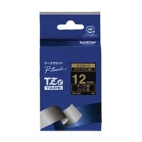 【ブラザー】 文字テープ TZe-334黒に金文字 12mm★お得な10個パック