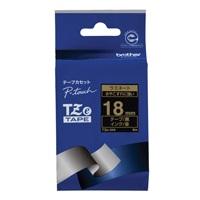 【ブラザー】 文字テープ TZe-344黒に金文字 18mm★お得な10個パック