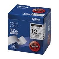【ブラザー】 文字テープ TZe-131V透明に黒文字 12mm 5個★お得な10個パック