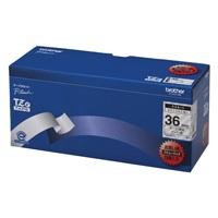 【ブラザー】 文字テープ TZe-161V透明に黒文字 36mm 5個★お得な10個パック