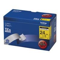 【ブラザー】 文字テープ TZe-651V黄に黒文字 24mm 5個★お得な10個パック