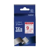 【ブラザー】 文字テープ TZe-222白に赤文字 9mm★お得な10個パック