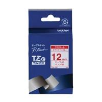 【ブラザー】 文字テープ TZe-232白に赤文字 12mm★お得な10個パック