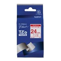 【ブラザー】 文字テープ TZe-252白に赤文字 24mm★お得な10個パック