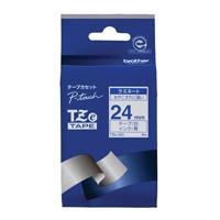 【ブラザー】 文字テープ TZe-253白に青文字 24mm★お得な10個パック