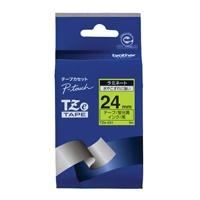【ブラザー】 文字テープ TZe-C51蛍光黄に黒文字 24mm★お得な10個パック