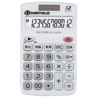 スマートバリュー ハンディ電卓 ホワイト5台 K073J-5★お得な10個パック