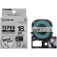 【キングジム】 テプラPROテープマット透明/黒文字SB18T★お得な10個パック