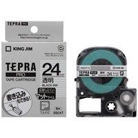 【キングジム】 テプラPROテープマット透明/黒文字SB24T★お得な10個パック