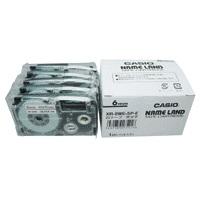 【カシオ計算機】 テープ XR-6WE-5P-E 白に黒文字 6mm 5個★お得な10個パック