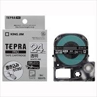 【キングジム】 テプラPROテープマット透明/白文字SB24TS★お得な10個パック