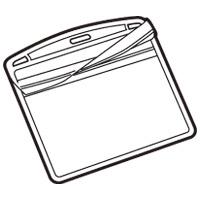 スマートバリュー 名札用替ケース C名刺型横100枚 B076J-10★お得な10個パック