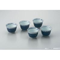 【日光陶器店】 反り方煎茶碗 桔梗 5客セット ★お得な10個パック