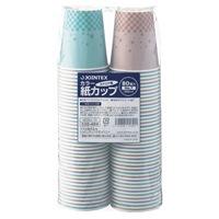 【ジョインテックス】 カラー紙カップST柄 7oz2400個 N030J-7C-P ★お得な10個パック