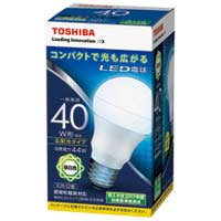 【東芝ライテック】 LED電球 広配光40W 昼白色 LDA4N-G-K/40W ★お得な10個パック