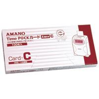 【アマノ】 タイムパックカード(4欄印字)C ★お得な10個パック